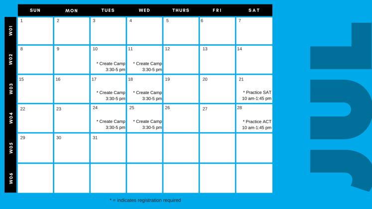 SRC 2018 Calendar page 2