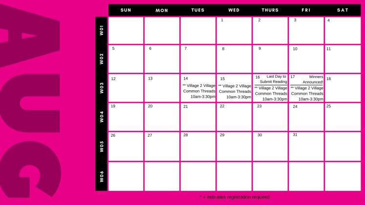 SRC 2018 Calendar page 3